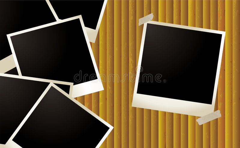 Polaroid- rimpeling stock illustratie