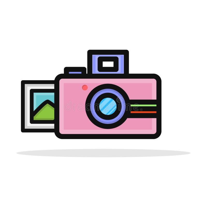 Polaroid sofortige Kamera-Ikonen-Vektor-Design lizenzfreie abbildung
