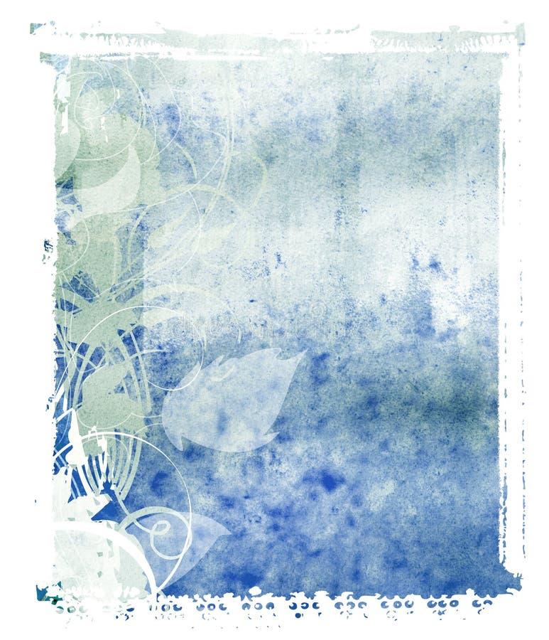 Polaroid Transfer Blue Background. Polaroid transfer technique used to create this background