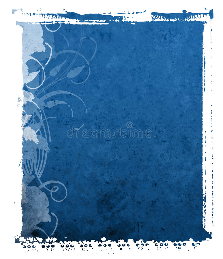 Polaroid Transfer Blue Background stock image