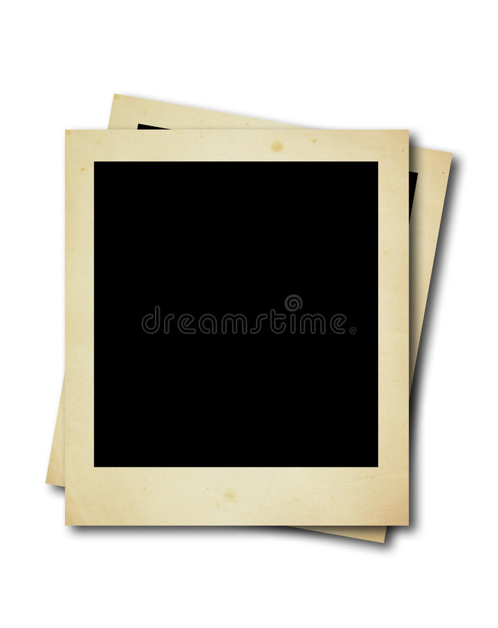 polaroid två för blanka kort fotografering för bildbyråer
