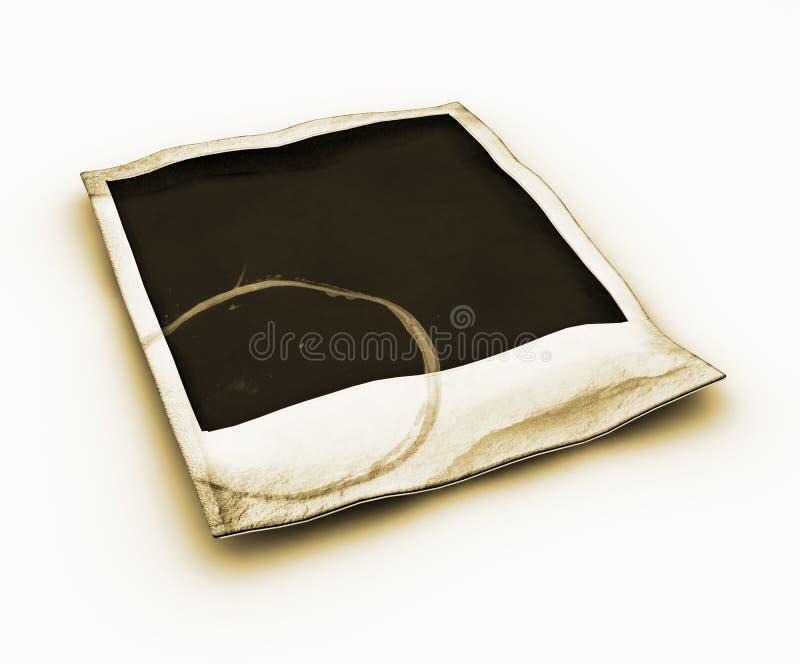 Polaroid van Grunge stock illustratie