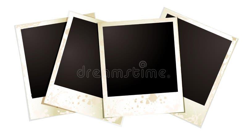 Polaroid- viertal stock illustratie