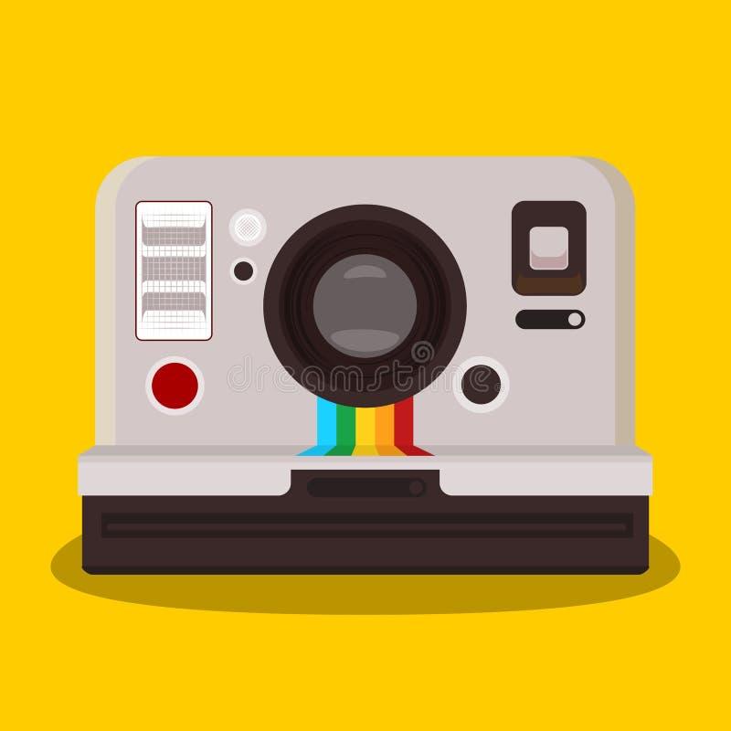 Free Polaroid Vintage Camera Flat Design Vector Image Flat Vector Design Stock Image - 160203941