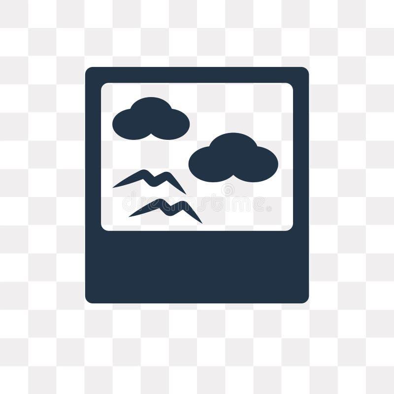 Polaroid wektorowa ikona odizolowywająca na przejrzystym tle, Polaroi ilustracja wektor