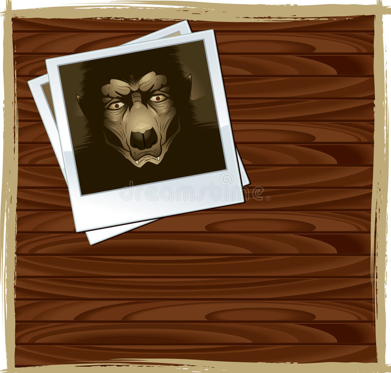 polaroid werewolf απεικόνιση αποθεμάτων