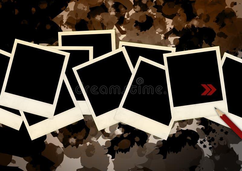 Polaroidcamera's op Camouflage stock illustratie