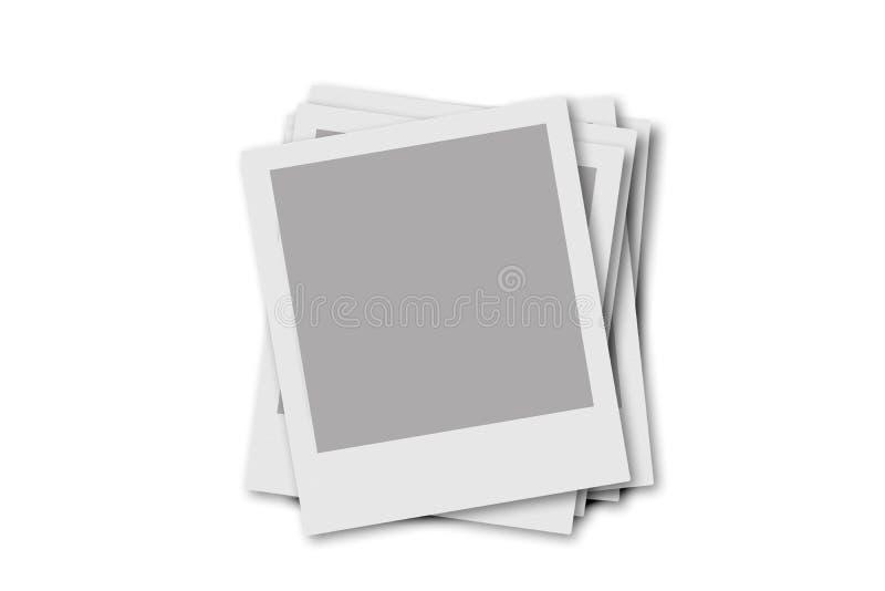 Polaroidfeld stock abbildung