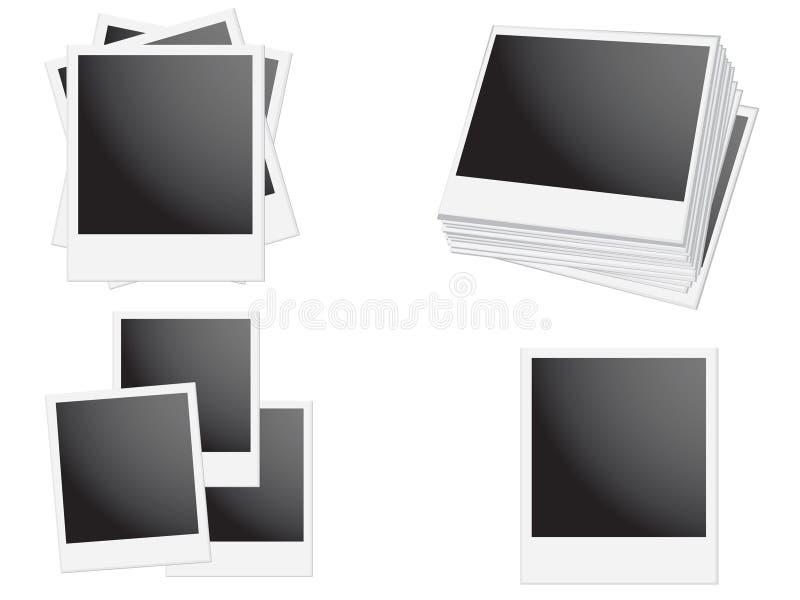 Polaroidfeld lizenzfreie abbildung