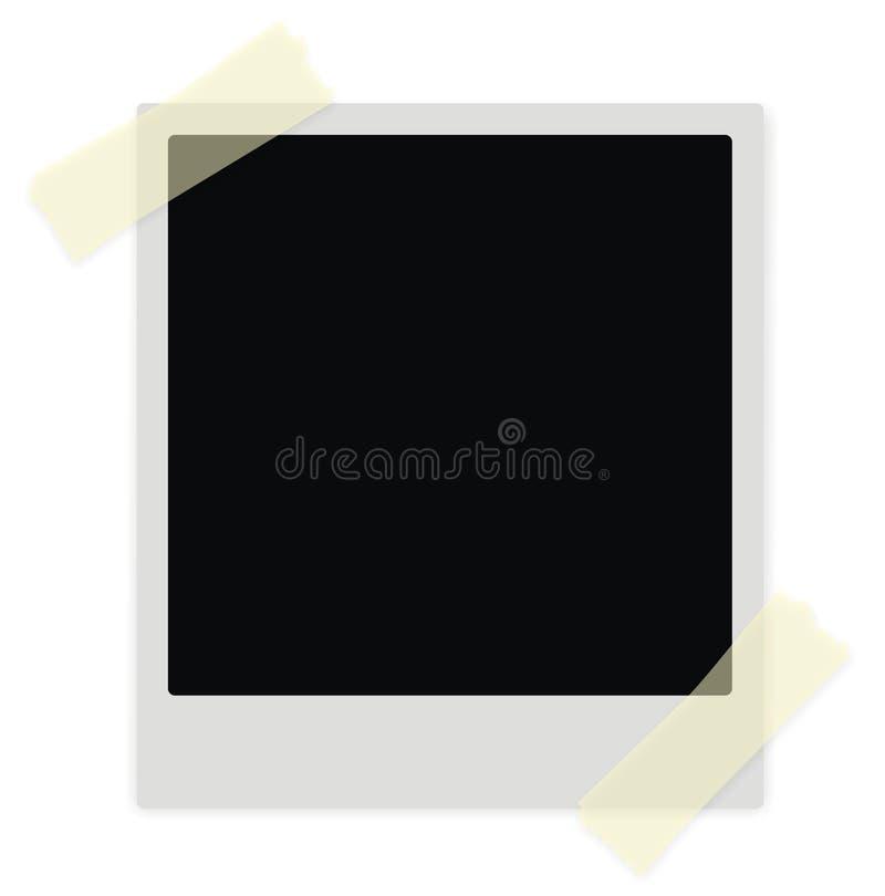 Polaroidfeld vektor abbildung