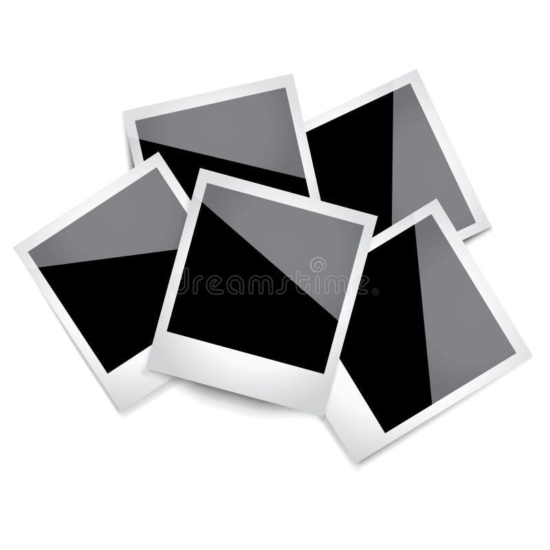 Polaroidfoto royaltyfri illustrationer
