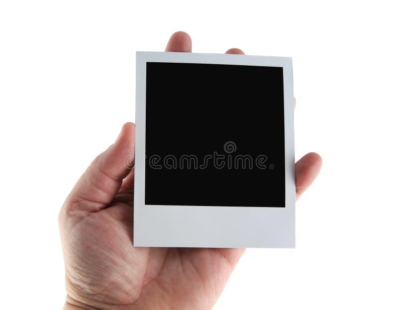 Polaroidhand stockfotos