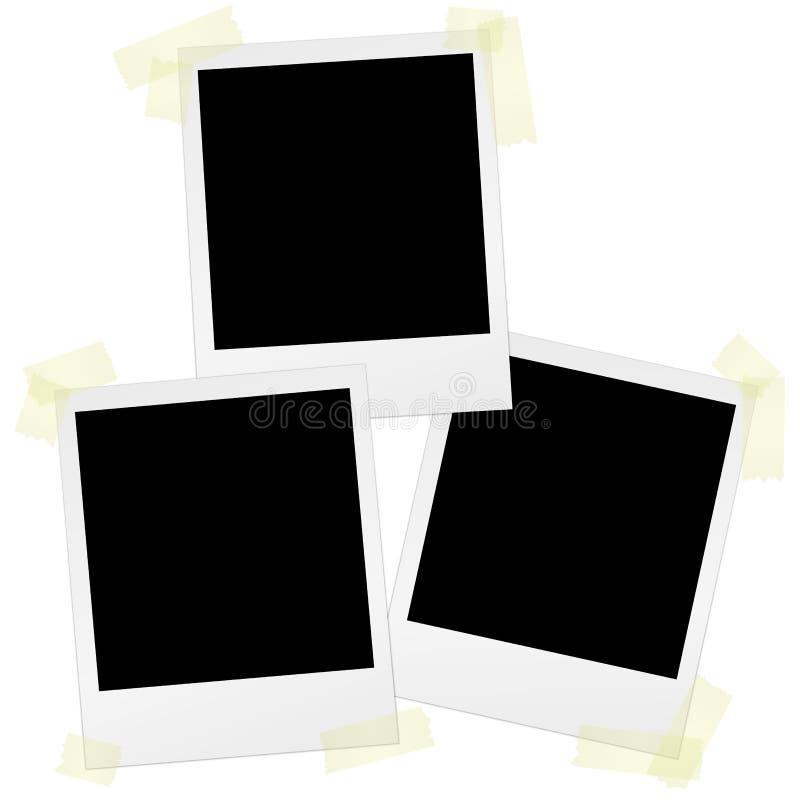 Polaroids με την ταινία ελεύθερη απεικόνιση δικαιώματος
