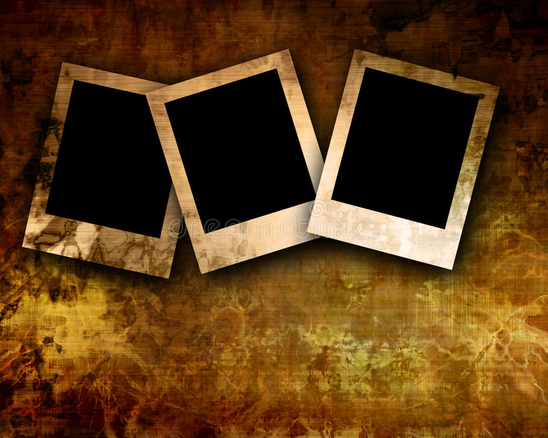 Polaroids στην παλαιά ανασκόπηση απεικόνιση αποθεμάτων