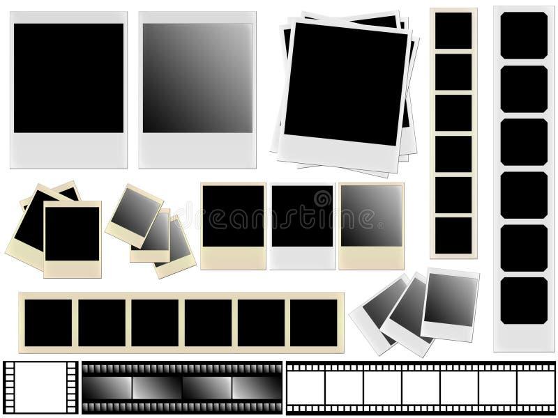 polaroids ταινιών ελεύθερη απεικόνιση δικαιώματος