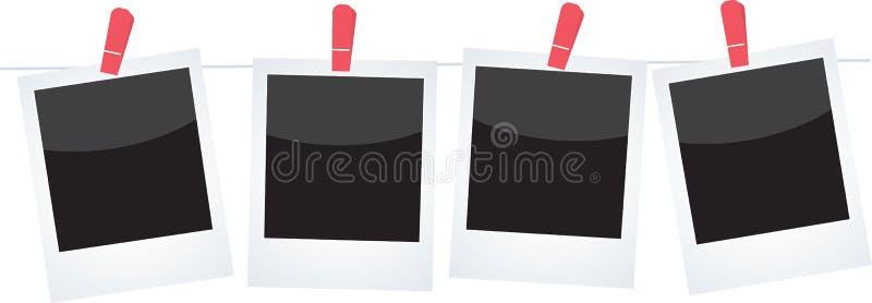 Polaroids ilustração do vetor