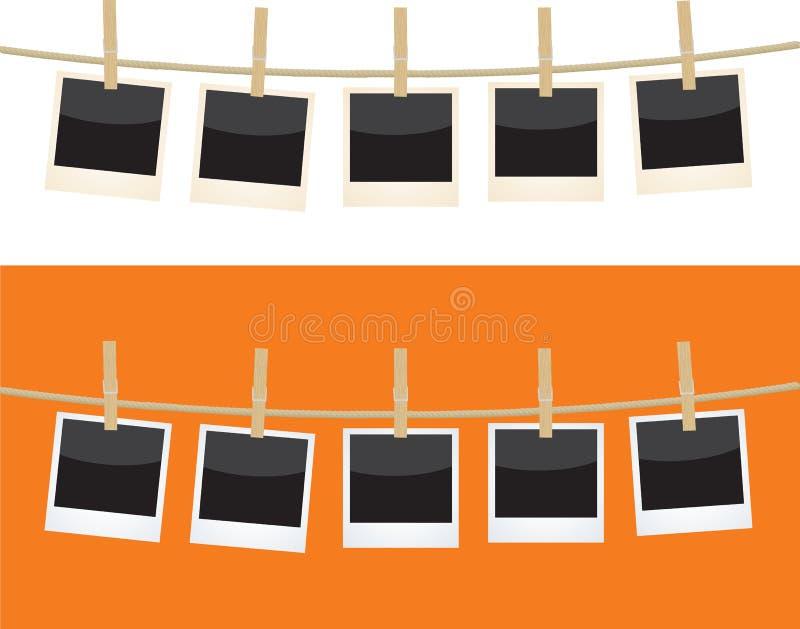 Polaroids ilustração stock