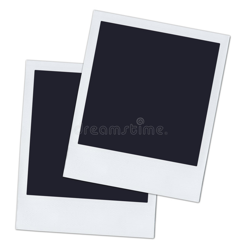 Polaroids fotografia stock
