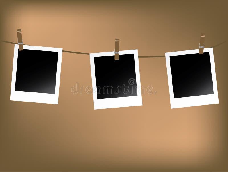 Polaroids in bianco royalty illustrazione gratis