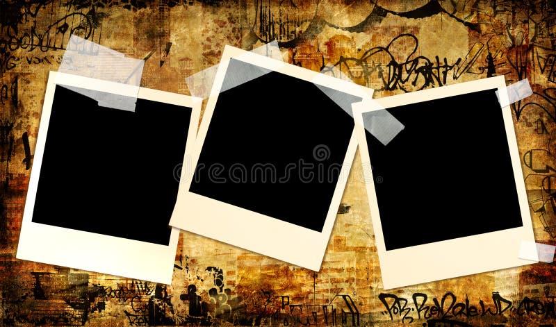 Polaroids dell'annata illustrazione vettoriale