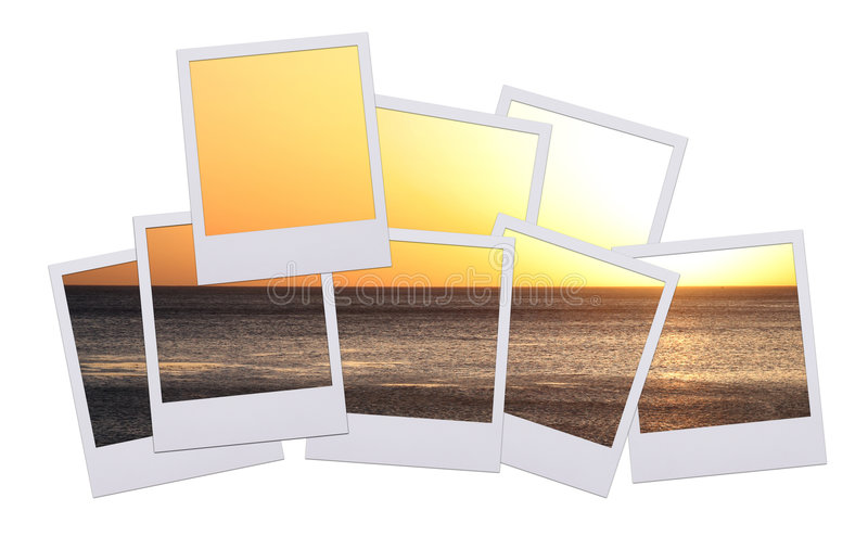 Polaroidsonnenuntergang lizenzfreie abbildung