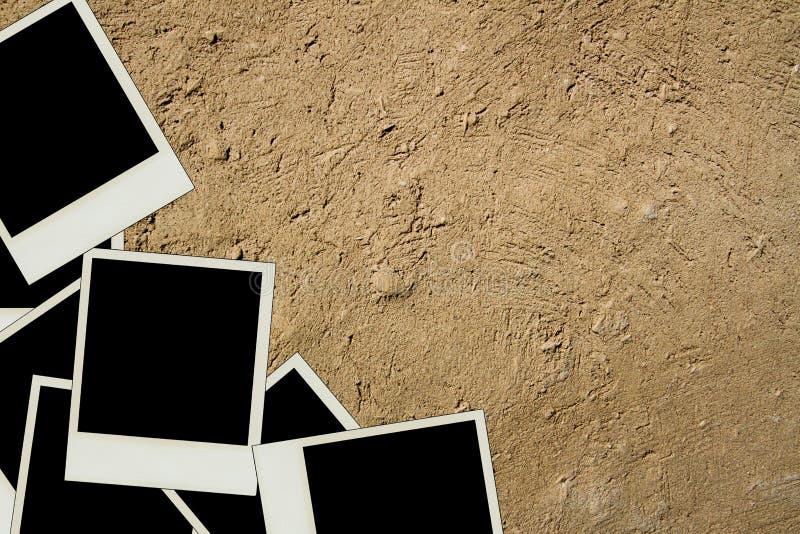 Polaroidu obrazka rama obrazy stock