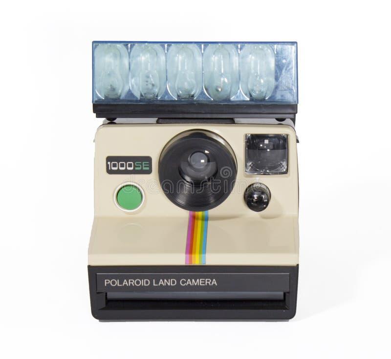Polaroidu 1000SE rocznika Natychmiastowej kamery bielu tło obrazy royalty free