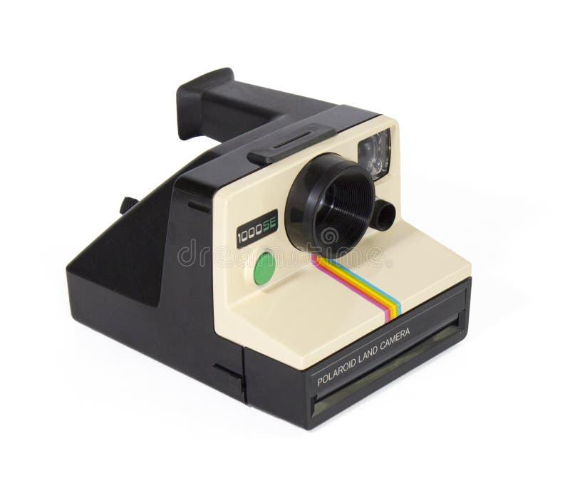 Polaroidu 1000SE rocznika Natychmiastowej kamery bielu tło zdjęcie stock