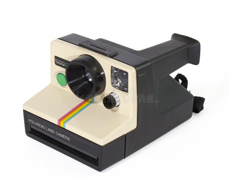 Polaroidu 1000SE rocznika Natychmiastowej kamery bielu tło fotografia stock
