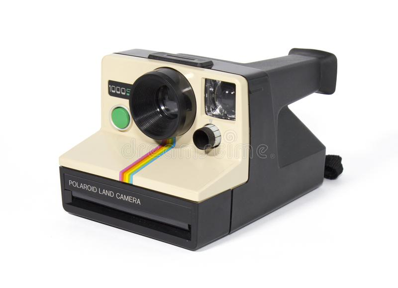 Polaroidu 1000SE rocznika Natychmiastowej kamery bielu tło zdjęcie royalty free