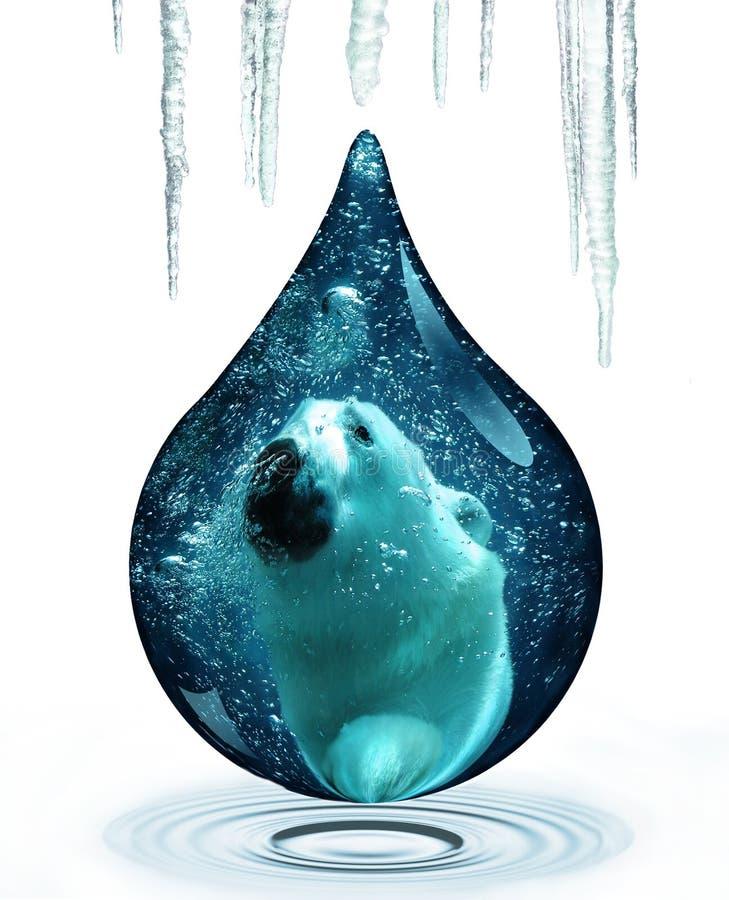 polart björnändringsklimat royaltyfri illustrationer