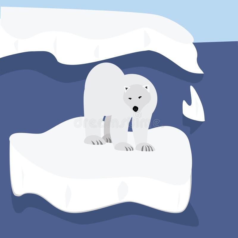 polart björnflottörhus vektor illustrationer