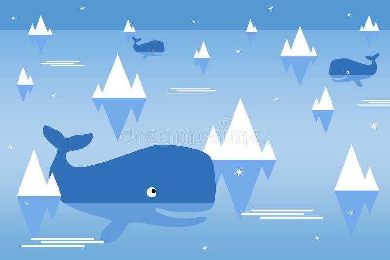 Polart hav vektor illustrationer
