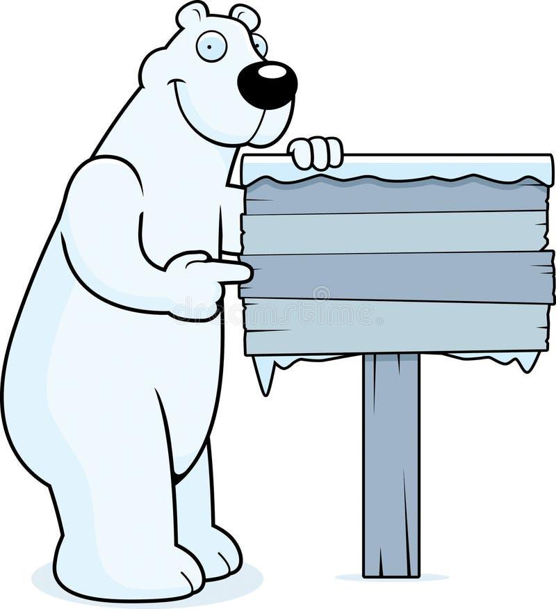 polart tecken för björn royaltyfri illustrationer
