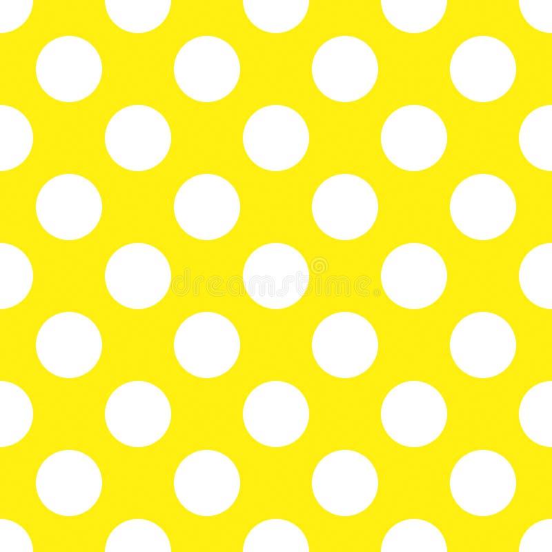 Polca amarilla Dot Seamless Paper Pattern ilustración del vector