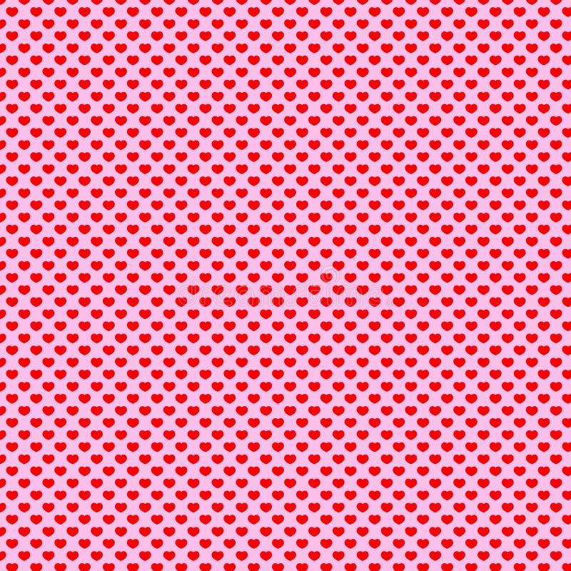 Polca Dot Pattern do coração ilustração do vetor