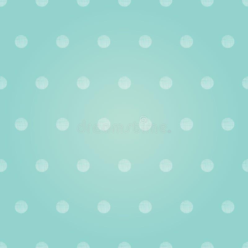 Polca Dots Circles Seamless Pattern Background do bebê do rosa pastel do vintage do vetor ilustração royalty free