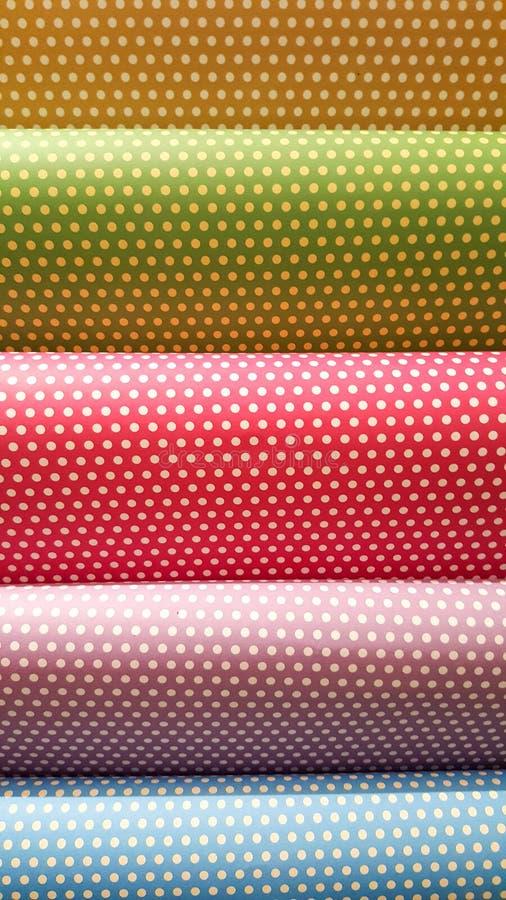 Polca Dots Wrapping Papers foto de archivo libre de regalías