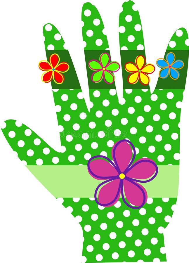 Polca verde Dot Hand ilustração royalty free