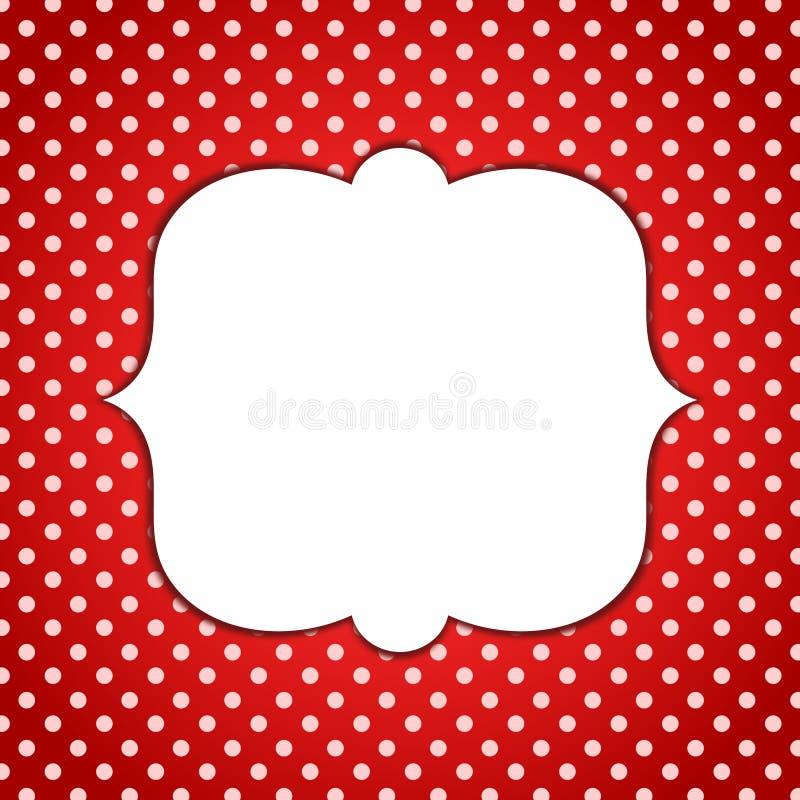Polca vermelha Dots Invitation Card do quadro de Minnie ilustração royalty free