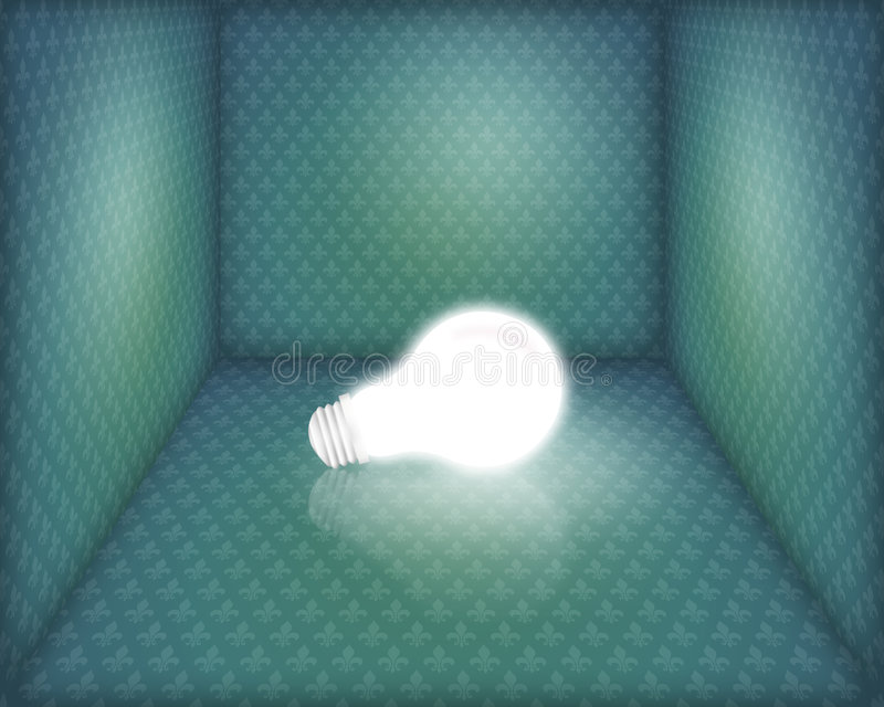 pole światła żarówki ilustracji