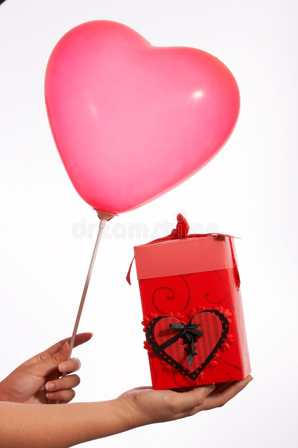 pole balonowy prezent obraz royalty free