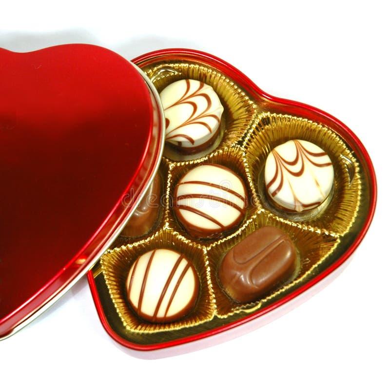pole czekoladowy kształt serca obrazy royalty free
