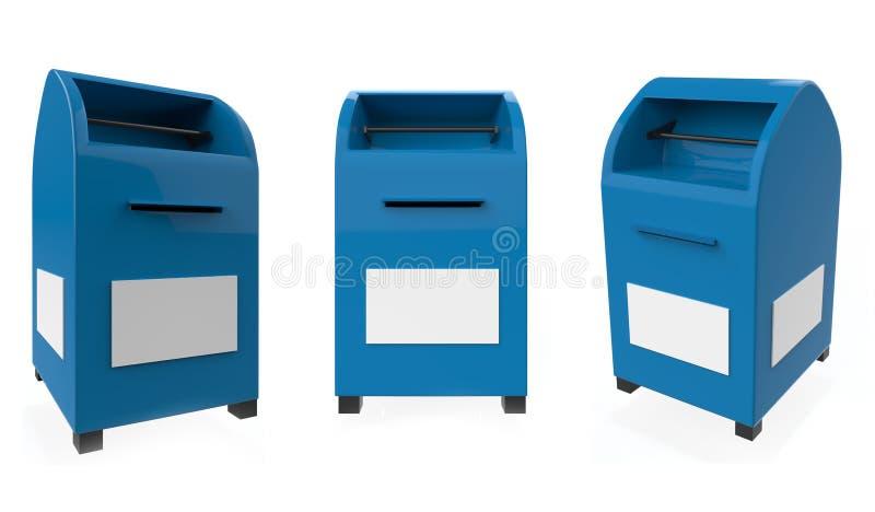 pole 3 d przedmiot odizolowane poczt? royalty ilustracja