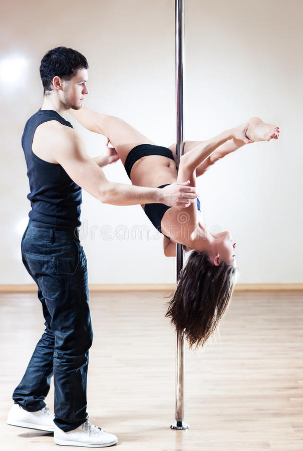 Download Pole dance trainer stock image. Image of sports, poledance - 18822387