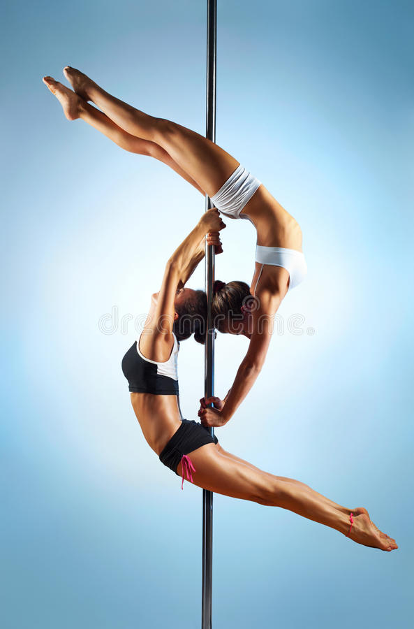 Download Pole dance women stock image. Image of stretch, posing - 26971323