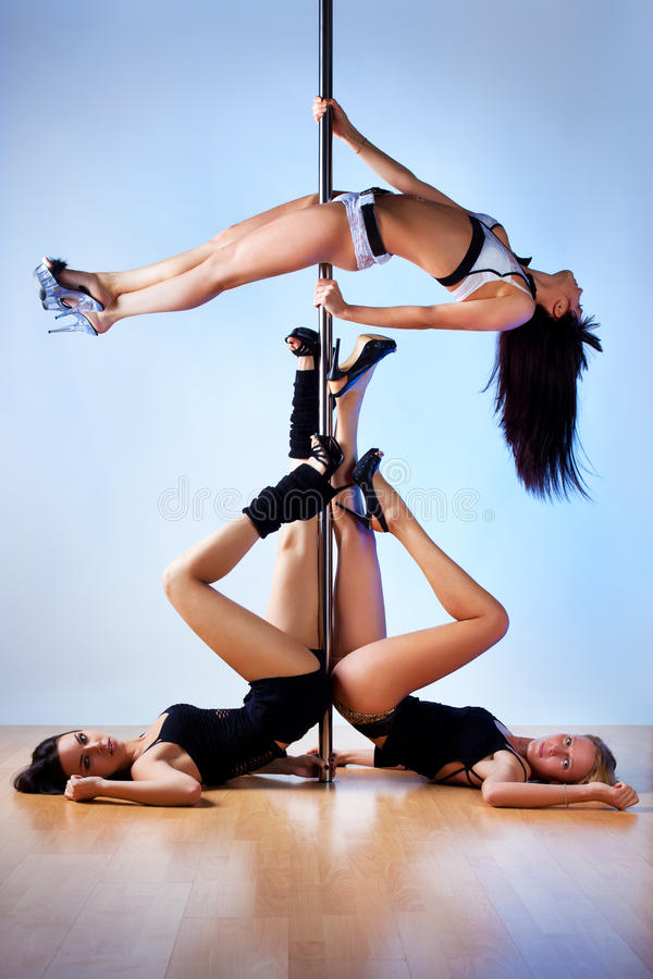 Download Pole dance women stock photo. Image of vibrant, side - 26971350