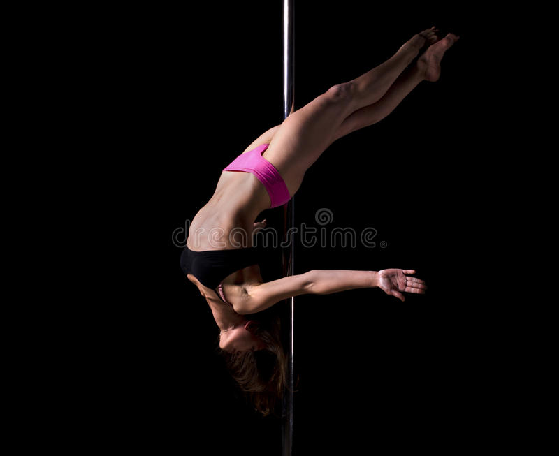 Download Pole dancer stock image. Image of blond, isolated, european - 22147787