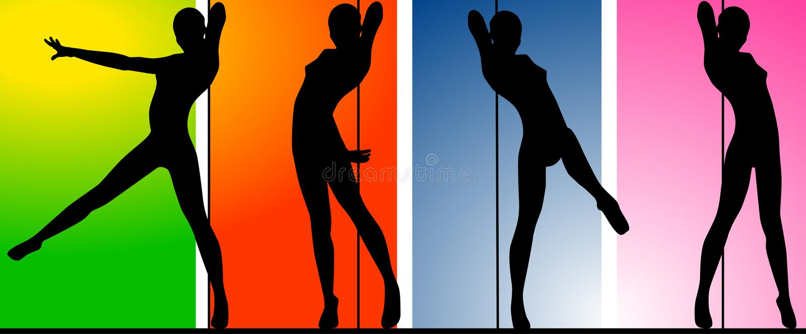Download Pole Dancer stock illustration. Illustration of woman - 5649399
