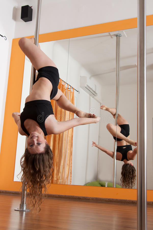 Download Pole dancer practicing stock photo. Image of gymnastic - 27875694